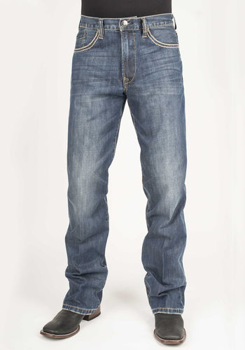 Stetson Men's Jean- 1312 Modern Fit Stetson Mens Jeans Pieced Back Pkt