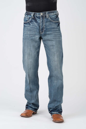 Stetson Men's Jean- 1312 Fit Stetson Mens Jeans V Shape Pkt With Emb Ows