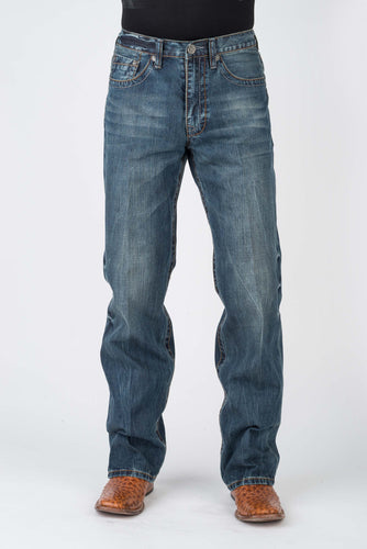 Stetson Men's Jean- 1312 Fit Stetson Mens Jeans X Shape Heavy Emb Back Pkt Ows