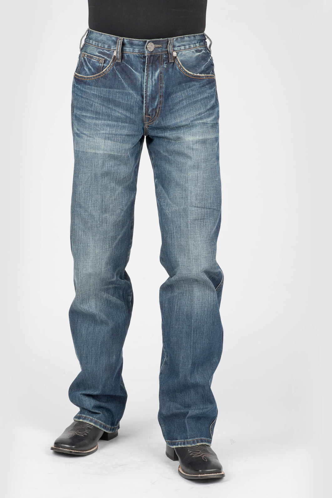 Stetson Men's Collection-instock Stetson Mens Jeans Tan Emb