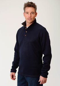 Stetson Men's Collection- Outerwear Stetson Mens Long Sleeve 2393 Bonded Sweater Knit Pullover