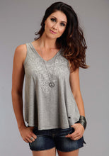 Stetson Ladies Collection- Spring Iii Stetson Womens Sleeveless Shirt 0910 Rayon Spandex Jersey V-neck Tank
