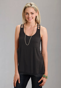 Stetson Ladies Collection- Fall Iii Stetson Ladies Sleeveless Shirt 9421 Rayon Jersey Racer Back Tank