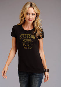 Stetson Ladies Collection Stetson Womens Short Sleeve Stetson Wild West
