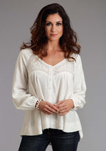 Stetson Ladies Collection- Spring I Stetson Womens Long Sleeve Shirt 0881 Lt Wt Fancy Rayon Btn Frt Blouse