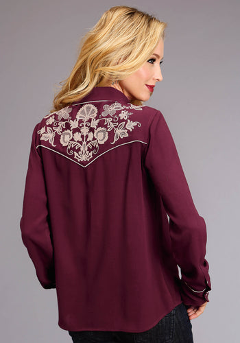 Stetson Ladies Collection- Fall I Stetson Womens Long Sleeve 0641 Rayon Crepe Western Blouse