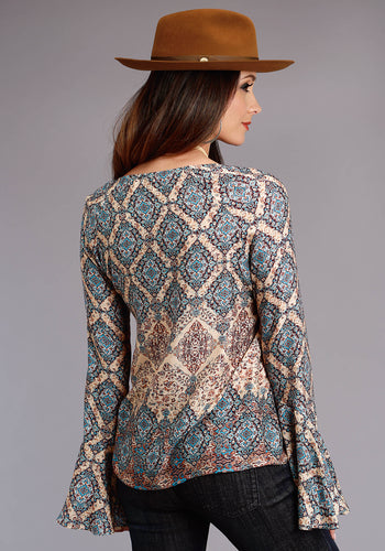 Stetson Ladies Collection- Fall I Stetson Womens Long Sleeve 0520 Tapestry Border Herringbone Twill