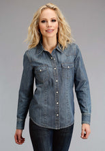 Stetson Ladies Collection- Fall Ii Stetson Womens Long Sleeve Shirt Easy Fit Denim Shirt Wsnap Front