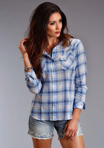 Stetson Ladies Collection- Summer I Stetson Womens Long Sleeve Shirt 1070 Skye Plaid Ls Western Shirt