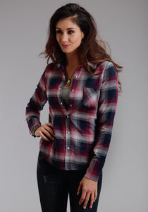 Stetson Ladies Collection- Fall I Stetson Womens Sleeveless Shirt 0673 Pomegranite Pld Ls Western Shirt