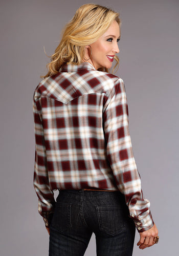 Stetson Ladies Collection- Fall I Stetson Womens Long Sleeve 0522 Harvest Plaid