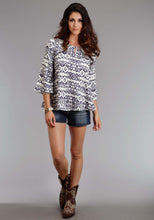 Stetson Ladies Collection- Spring Iii Stetson Womens Long Sleeve Shirt 0931 Rayon Twill Aztec Print