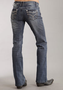 Medium Wash With Fancy Contrast Top Stitchin Stetson Ladies Collection Women's Jeans