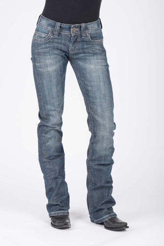 Stetson Ladies Jean- 818 Contemporary Styling Stetson Womens Jeans Thick Denim Pieced Back Pkt Ows