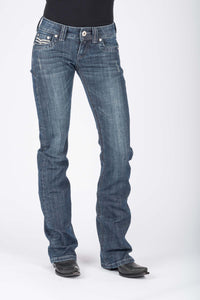 "Stetson Ladies Jean- 818 Contemporary Styling Stetson Womens Jeans Scritch Stitch ""s"" Back Pkt Ows"