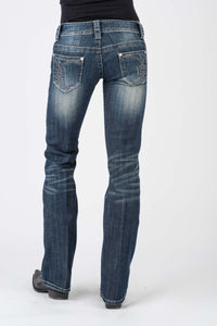 Stetson Ladies Jean- 818 Contemporary Styling Stetson Womens Jeans Arrow Pieced Pkt Detail Wdestruction