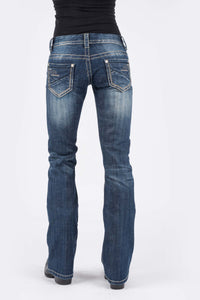 Stetson Ladies Jean- 818 Contemporary Styling Stetson Womens Jeans Piece Back Pkt Wemb Detail On Pkt
