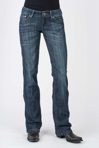 Stetson Ladies Jean- 818 Contemporary Styling Stetson Womens Jeans Plain Back Pkt Wemb Details