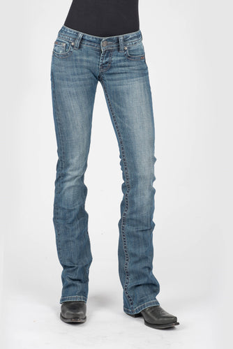 Stetson Ladies Jean - 818 Fit Stetson Womens Jeans Box Stitch Emb Back Pkt Detailing Ows