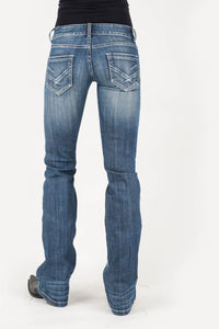 Stetson Ladies Jean- 818 Fit Stetson Womens Jeans Back Pkt Sanded Wash Pocket Ows