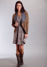Stetson Ladies Collection- Fall Ii Stetson Ladies Long Sleeve Dress 9328 Rayon Spndex Jerey Animale Prt