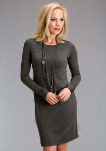 Stetson Ladies Collection- Fall Iii Stetson Womens Long Sleeve Dress 1404 Rayon Knit T Shirt Dress