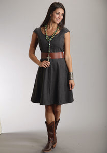 Stetson Ladies Collection- Winter Ii Stetson Ladies Sleeveless Dress 8367 Wool Blend Cap Sleeve Dress