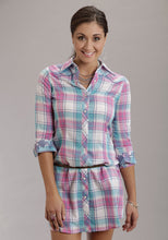 Stetson Ladies Collection- Summer I Stetson Ladies Long Sleeve Dress 8624 Mardi Gras Plaid Dress