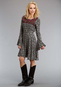 Stetson Ladies Collection- Fall Ii Stetson Womens Long Sleeve Dress 1311 Paisley Print Swing Dress