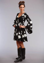 Stetson Ladies Collection- Spring Ii Stetson Womens Long Sleeve Dress 1593 Black Crepe Dress