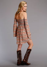 Stetson Ladies Collection- Fall I Stetson Womens Long Sleeve Dress 2104 Aztec Prt Rayon Twill