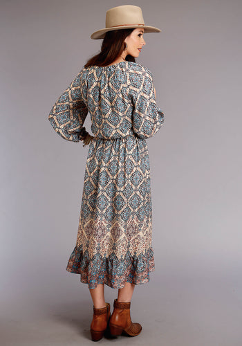 Stetson Ladies Collection- Fall I Stetson Womens Long Sleeve Dress 0520 Tapestry Border Herringbone Twill