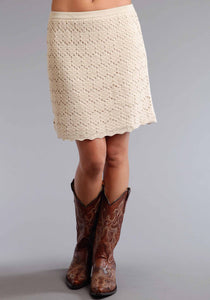 Stetson Ladies Collection- Summer Ii Stetson Womens Skirt 0480 Double Knit Lace Skirt