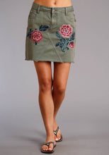 Stetson Ladies Collection- Summer I Stetson Womens Skirt Olive Twill 5 Pkt Skirt Above The Knee