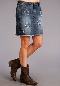 Stetson Ladies Collection- Fall Ii Stetson Womens Skirt Denim Skirt Wstar Appliques