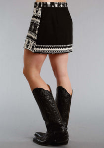 Stetson Ladies Collection- Fall Ii Stetson Womens Skirt 1448 Cream Black Jacquard Skirt