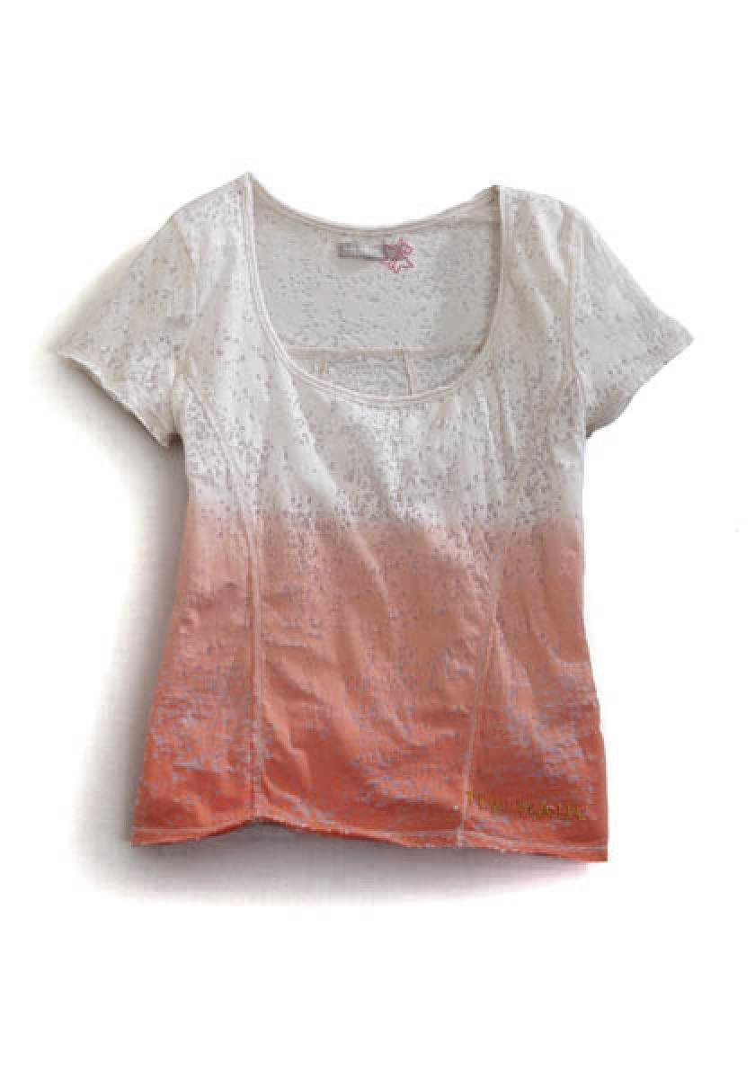 Burnout Jersey Knit Peach Tin Haul Collection Women's Short Sleeve