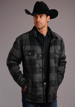 Stetson Men's Collection- Original Rugged Stetson Mens Jacket 00506 Buffalo Plaid Brushed Twill
