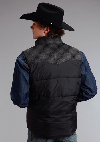 Stetson Men's Collection- Outerwear Outer Mens Vest 0768 Black Nylon