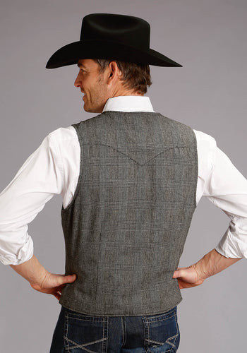 Stetson Men's Collection- Original Rugged Stetson Mens Vest 2391 Wool Blend Vest - Fully Lined