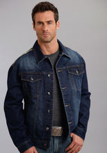 Stetson Men's Collection- Holiday Stetson Mens Jacket Denim Jacket With Camo Canvas