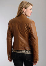 Stetson Ladies Collection- Outerwear Outer Womens Jacket Smooth Leather Wstudded Lapel