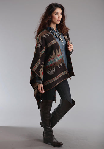 Stetson Ladies Collection- Fall I Stetson Womens Jacket 0814 Navajo Serape Wrap Cardigan