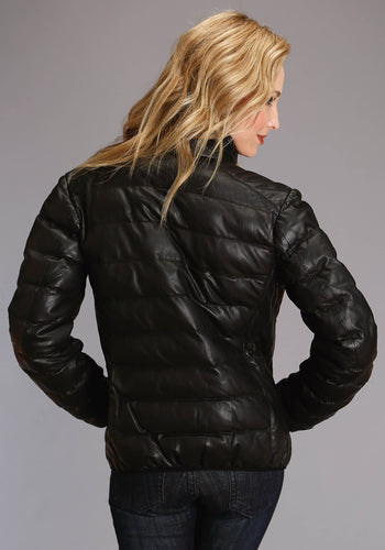 Stetson Ladies Collection-outerwear Stetson Womens Jacket Leather Puffy Jacket