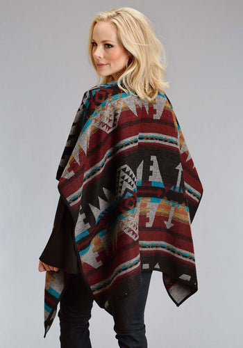 Stetson Ladies Collection- Fall I Stetson Womens Jacket 1478 Color Aztec Wrap Cardigan