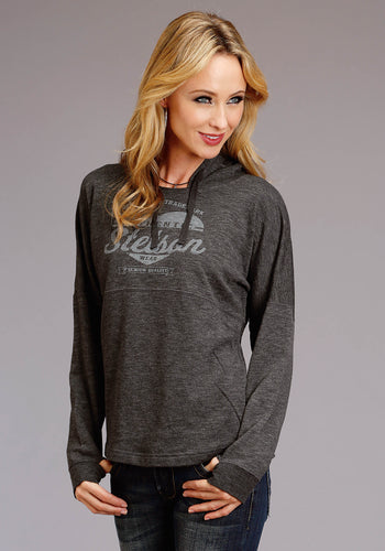 Stetson Ladies Collection Stetson Womens Sweatshirt 8oz Heather Mirco French Terry Hoodie