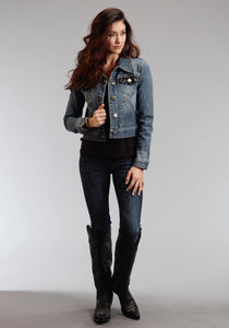 Stetson Ladies Collection- Fall Ii Stetson Womens Jacket Shrunken Denim Jacket Wsequin Fabric