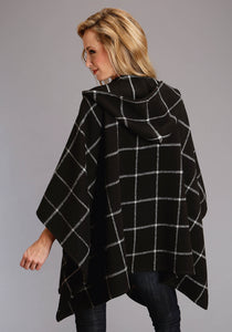 Stetson Ladies Collection- Fall Ii Stetson Womens Jacket 2387 Black White Brushed Plaid