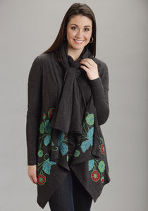 Stetson Ladies Collection- Fallwinter Ii Stetson Ladies Scarve 8815 Charcoal Heather Scarf