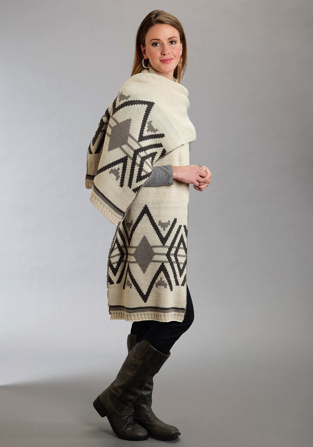 Stetson Ladies Collection- Fall Iii Stetson Ladies Scarve Aztec Pattern Intarsia Scarf